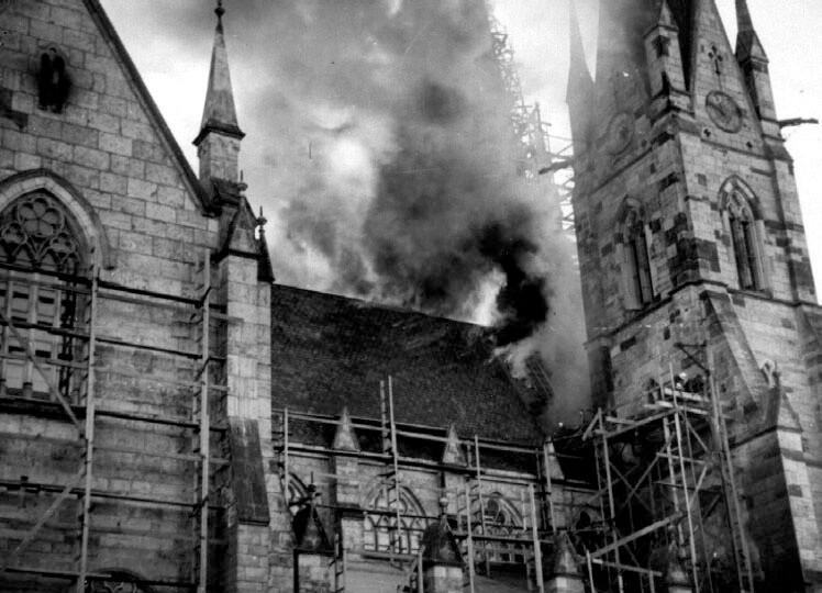 När kyrkan brann