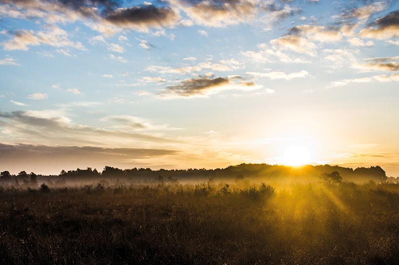 När solen gick upp