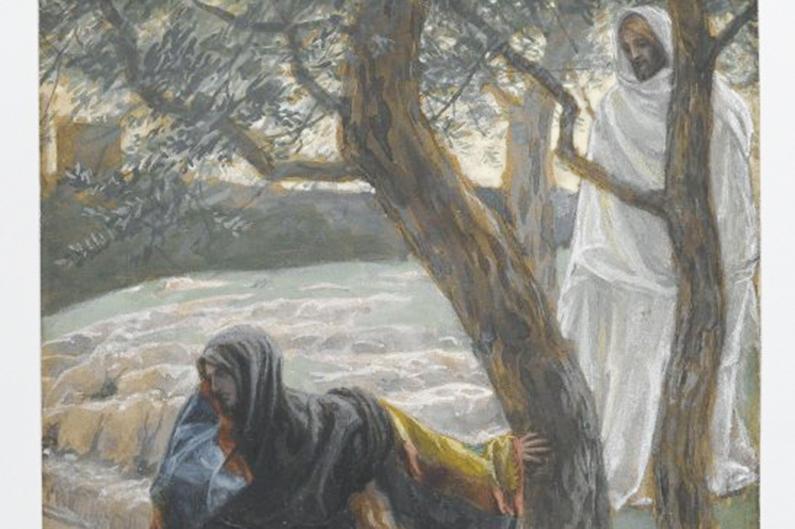 Jesus och Maria vid graven